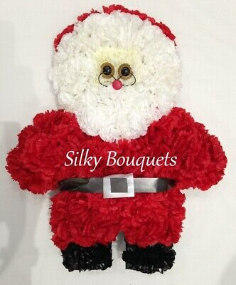Father Christmas Artificial Silk Funeral Flower Santa Claus Memorial Tribute Son