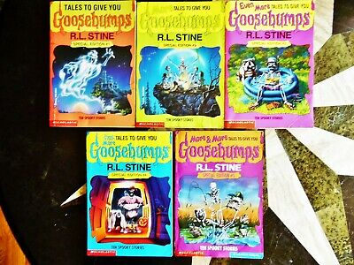 Set Of 5 Tales To Give You Goosebumps 1-5 Books By Rl Stine 10 Stories Each Book