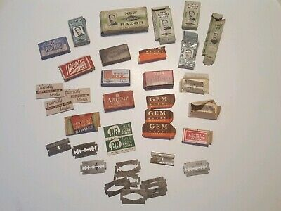 Vintage Various Safety Razor Blades Lot & Boxes