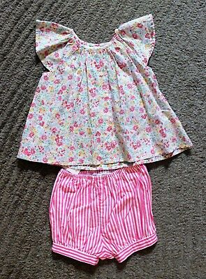 Ralph Lauren Baby Girls 2 Piece Outfit (Shorts & Top) - Size 6 Months - NWT