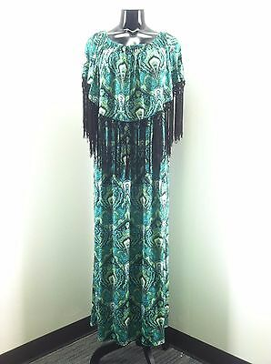 """One Size Fits Most Misses /""""Curations Caravan Printed Chiffon/"""" Tropical Leaves"""