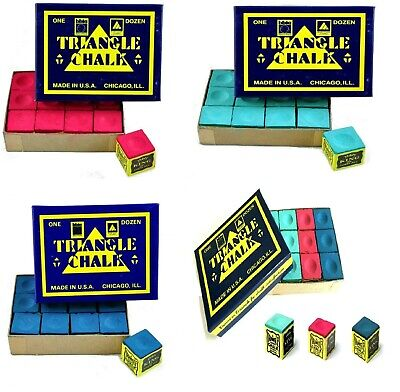 GENUINE TRIANGLE SNOOKER or POOL Cue Tip CHALK - By Tweeten USA in BOX or PIECES