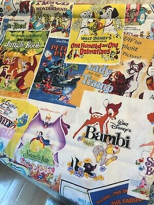 Disney Classics Posters The Greatest Love Story Ever Told Cotton Fabric BTY 5758