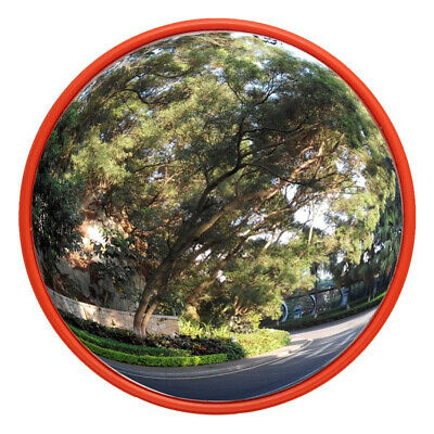 "30cm 12"" Outdoor Road Traffic Convex Mirror Wide Angle Driveway Safety Security"