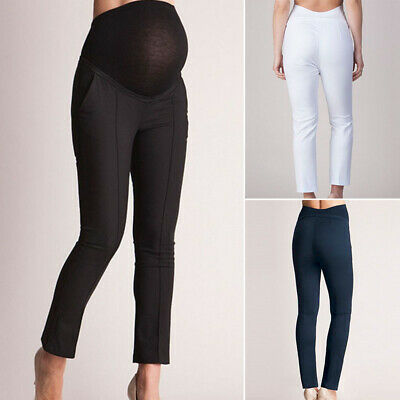 Maternity Clothes Ladies OL Slim Long Trousers Womens High Waists Pregnant Pant