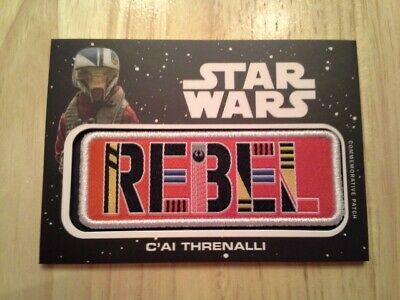 Star Wars Journey to The Rise of Skywalker Jumbo Patch Card C'ai Threnalli