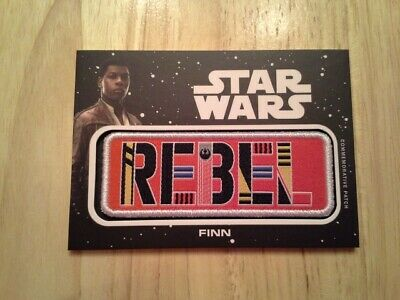 Star Wars Journey to The Rise of Skywalker Jumbo Patch Card Finn