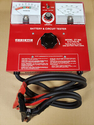 Christie CT500 Battery Load Tester 6 and 12 Volt 500 Amp Carbon Pile New in Box