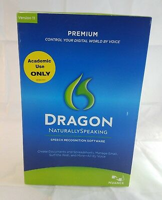 Nuance Dragon Naturally Speaking Software Version 11 Premium New