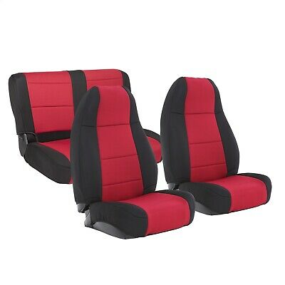 Smittybilt 750230CVR XRC Series Red Driver Side Seat Cover for Jeep Wrangler//CJ7