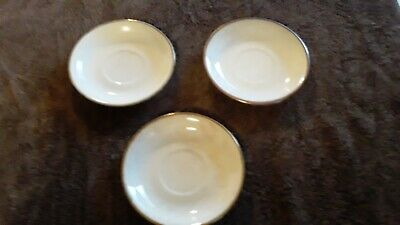 Homer Laughlin Empress saucers chinaware dishes 18 carat gold trim 4 23 N