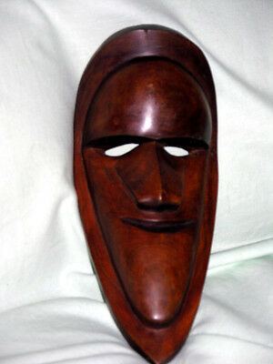 Old Vintage African Tribal Mask Perfectly Sculpted Heavy Wood Fetish Witchcraft