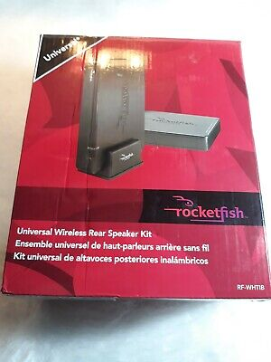 Rocketfish Universal Wireless Rear Speaker Kit RF-WHTIB Sender/new open box
