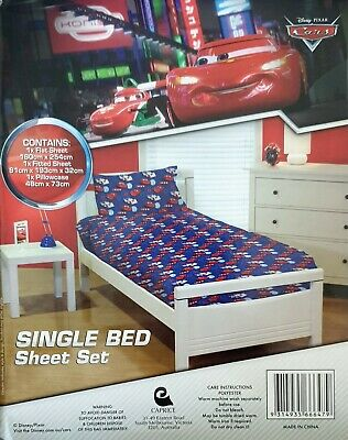 Disney Pixar Cars Kids Sheet Set  | 95 Lightning McQueen | Single