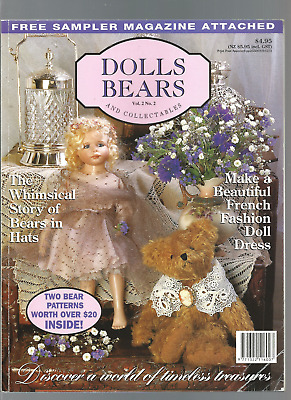 MAGAZINE  DOLLS AND BEARS & COLLECTIONS vol 2#2 see scan fo contents
