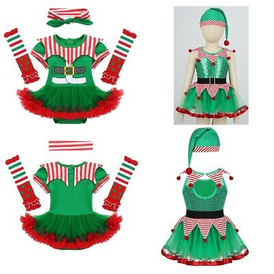 Newborn Infant Baby Girl Christmas Outfit Sequin Clown Romper Tutu Dress Costume
