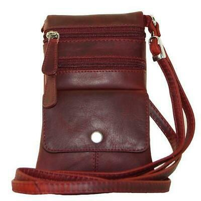 Cenzoni Small Bag Deep Red oil Pull Up Cowhide Leather