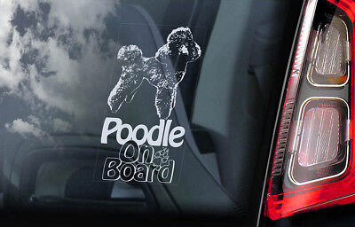 B1030 POODLE LOVE DOG DECAL STICKER for CAR TRUCK SUV VAN WALL MIRROR TOY ART