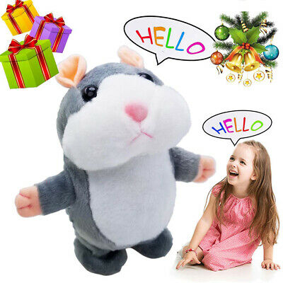 Electronic Cheeky Talking Hamster Cute Pet Plush Toy Gift Repeats What You Say