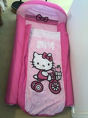 Girls Hello Kitty Readybed Airbed Camping Caravanning Sleepovers Only Used Once!