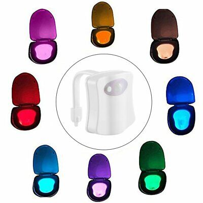 8Color Changing LED Toilet Bathroom Night Light  Motion Activated Seat Sensor rS