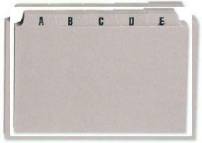 "A-Z Guide Card Set 5x3/"" 127x76mm Buff Index Box Dividers"