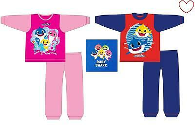 Girls Kids Boys Baby Shark Pinkfong Pyjamas Official