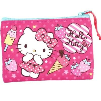 Hello Kitty Zip Pouch Cash Coin Purse ID Credit Card Case Holder Flat Bag Wallet