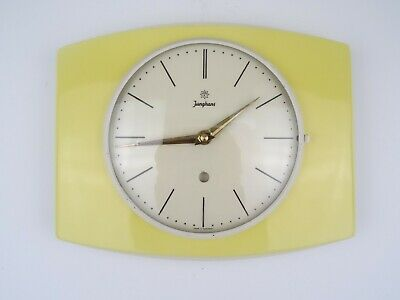Retro German Junghans Vintage Ceramic Kitchen Wall Clock (Kienzle Mauthe era)