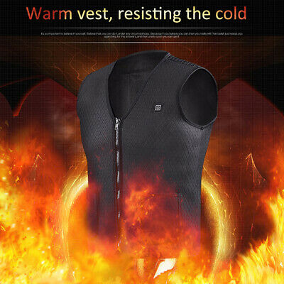 Electric Heated Vest USB Heating Jacket Winter Body Warmer Cloth for Women/Men