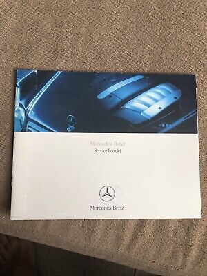 Genuine Mercedes Service History Maintenance Record Book