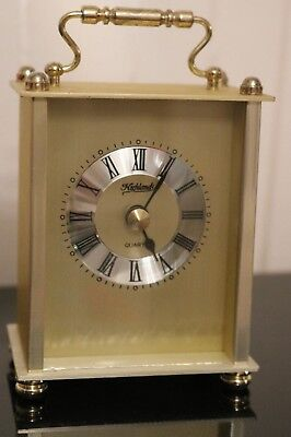 Brass Colour carriage clock by Highlands