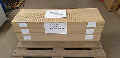 PEG BOARD USED 5 SHEETS IN VGC 46.5 x 14 inches 5mm thickness