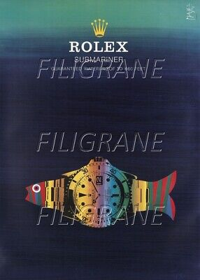 ROLEX SUBMARINER MONTRE Rodg-POSTER/REPRODUCTION A3+(*) d1 AFFICHE VINTAGE