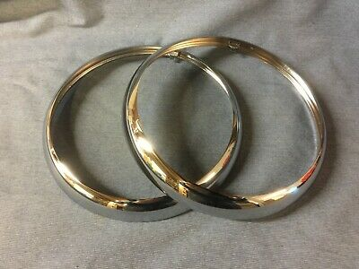 New Triumph Spitfire Head Lamp Rims Pair