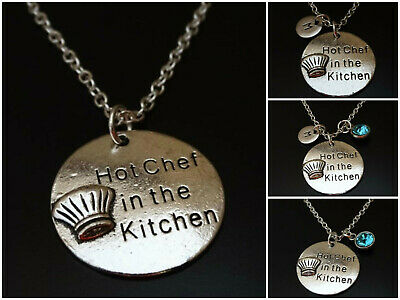 10PCS Antiqued Silver Hot Chef in the Kitchen Charms #92457