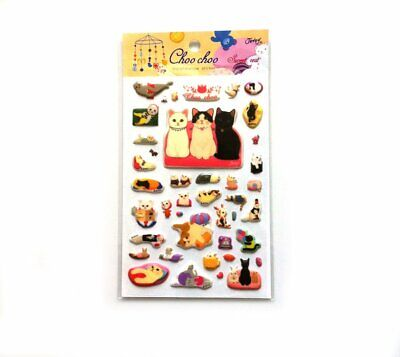 Jetoy ChooChoo Cat Kitty Kitten Diary Deco Stickers Sweet Rest Gift Present