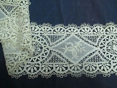 Antique Victorian mixed  lace remnant
