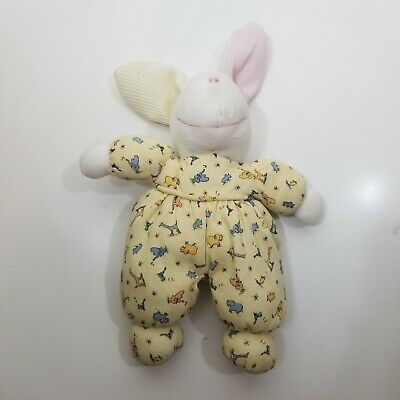Carters John Lennon Real Love Plush Pajama Bunny Baby Rattle Toy