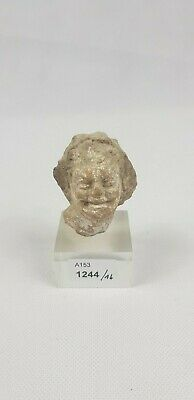 Fine Ancient Hellenistic Greek Terracotta Head  4th - 3rd C BC  5.5 cm / 2 in