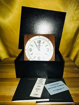 Watch UHR Officine Panerai PAM 00314 Table Clock Quartz in Wood Mounting boxed