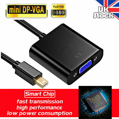 UK Mini Display Port DP Thunderbolt Male to VGA Cable Adapter For  Macbook iMac