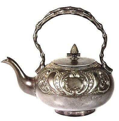 Antique Robert Pringle Victorian Aesthetic Pewter Teapot C.1880