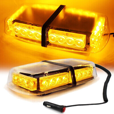 24 LED Light Amber Flashing Emergency Warning Strobe Light Bar Roof Top Yellow