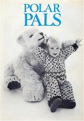 Polar Bear Soft Toy Vintage Diagram Sewing Pattern Instructions S10029