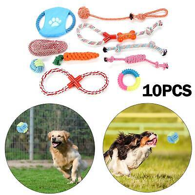 10X Dog Rope Toys Tough Strong Chew Knot Knotted Pet Puppy Healthy Teeth Bear