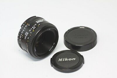 Nikon AF Nikkor 50mm F/1.8 Lens Black Made In Japan