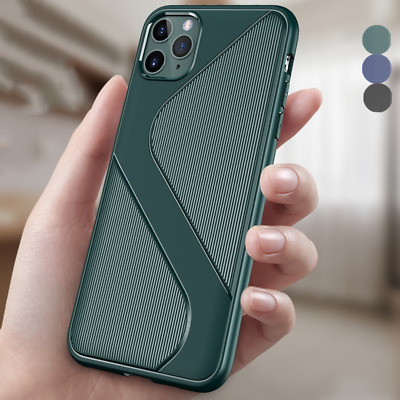 S Shape Shockproof Armor Soft TPU Case Cover For iPhone 11 Pro Max XS XR 8 7 6S+