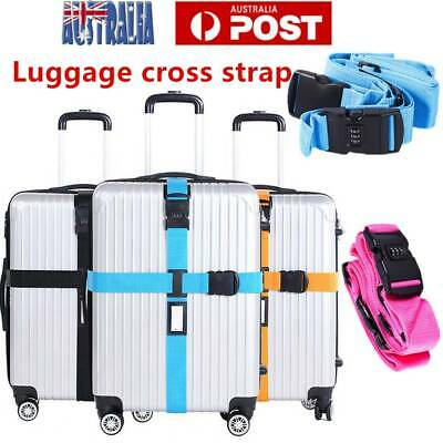 Adjustable Travel Luggage Strap Suitcase Belt Password Secure Lock Nylon Packing