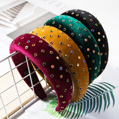 Ladies Padded Headband Embellished Hairband with Colorful Crystal Jewellery Show